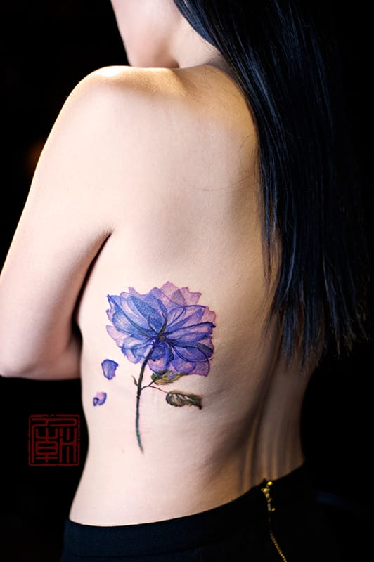 Colored version by Liz @Tattoo Temple.