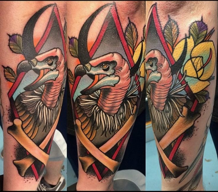 Neo traditional piece by Josh Oshier.