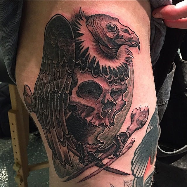15 magisterial vulture tattoos tattoodo