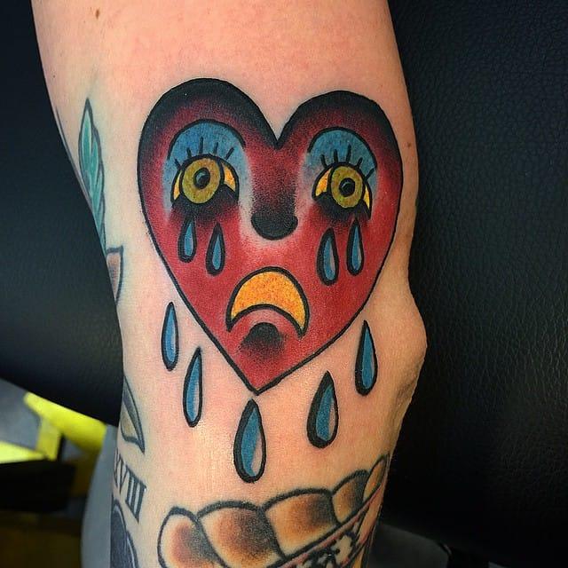 10 Timeless Crying Heart Tattoos | Tattoodo