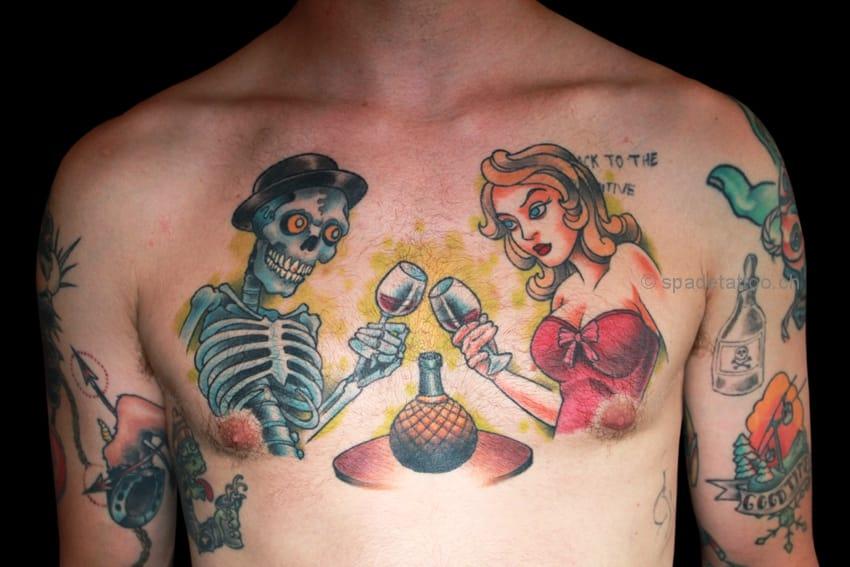 Couple dinner tattoo