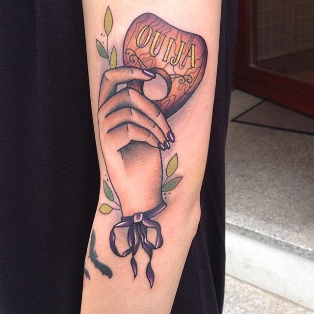 Planchette Tattoo by Carly Kroll
