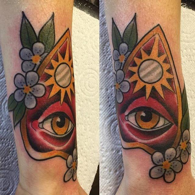 Planchette Tattoo by Daniel Williams