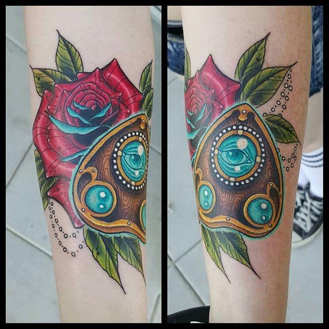 Planchette Tattoo by Jon Leighton