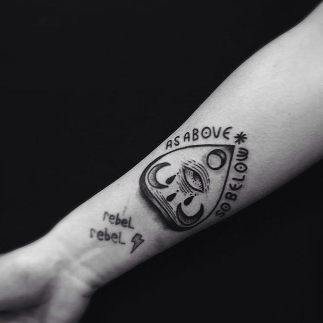 Planchette Tattoo by Lorenzo Di Gennaro