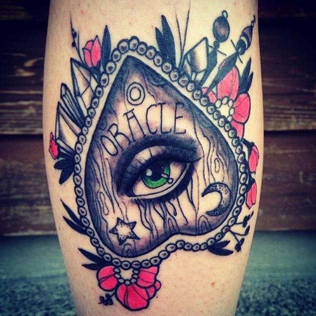 Planchette Tattoo by Stephanie Houldsworth