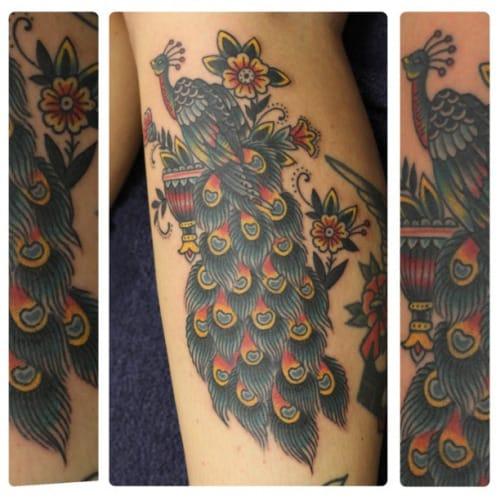 Peacock Tattoo by Johann Ingemar