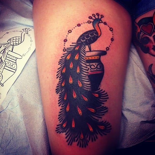 Peacock Tattoo by Josh Stephens