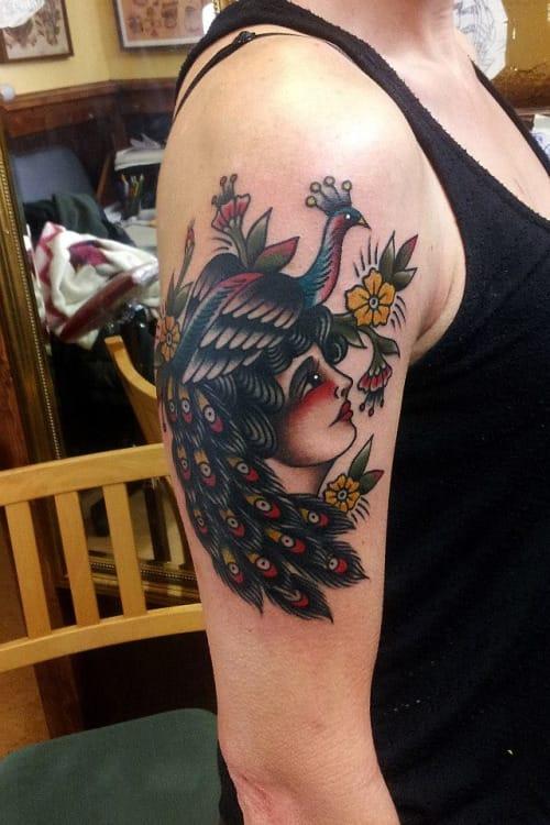 Peacock Tattoo by Mauro Quaresima