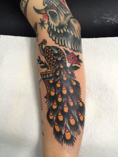 Peacock Tattoo by Tony Nilsson