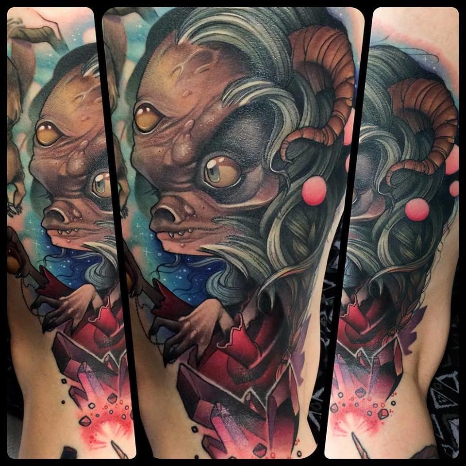 Aughra from Dark Crystal tattoo