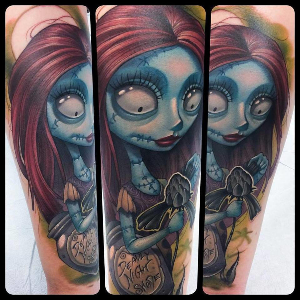Sally from A Nightmare Before Christmas tattoo