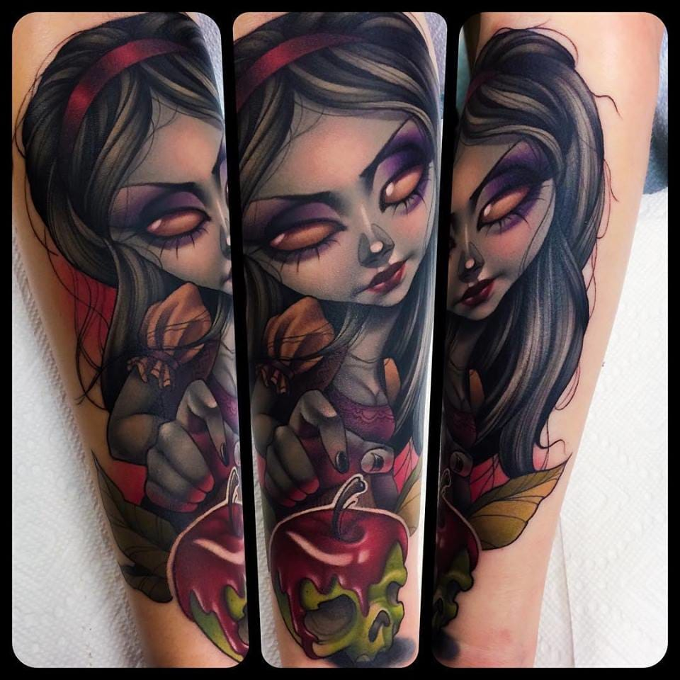 The spooky pop surrealist tattoos of kelly doty tattoodo for Tattoo nightmares shop website