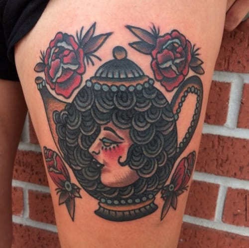Teapot Tattoo by Ivan Antonyshev