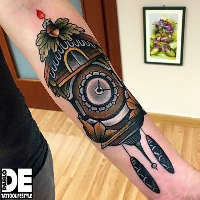 15 Ornamental Cuckoo Clock Tattoos