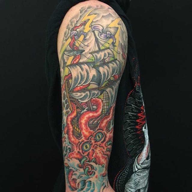 Kraken Tattoo by Andrew McNally
