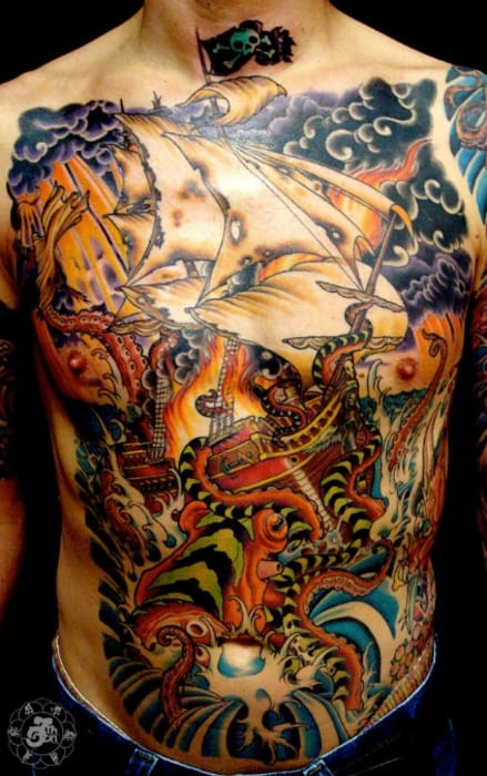 Tatouage de George Campise