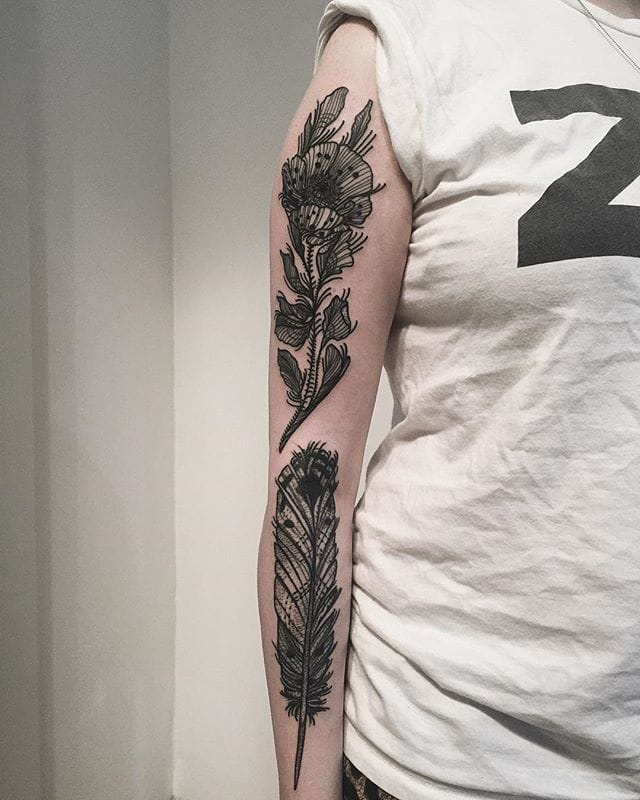 Feather Tattoo by Anna Enola