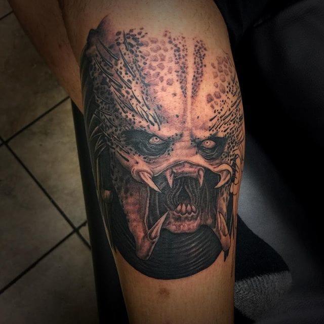 Predator (In Progress) Tattoo by Matt Perlman