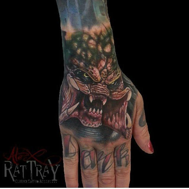 Predator Tattoo by Alex Rattray