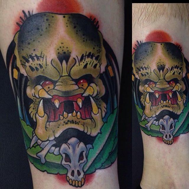 Predator Tattoo by Marty McEwen
