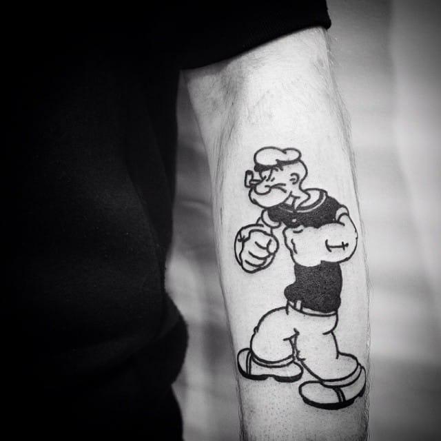 Tattoo Popeye: 15 Mighty Popeye Tattoos
