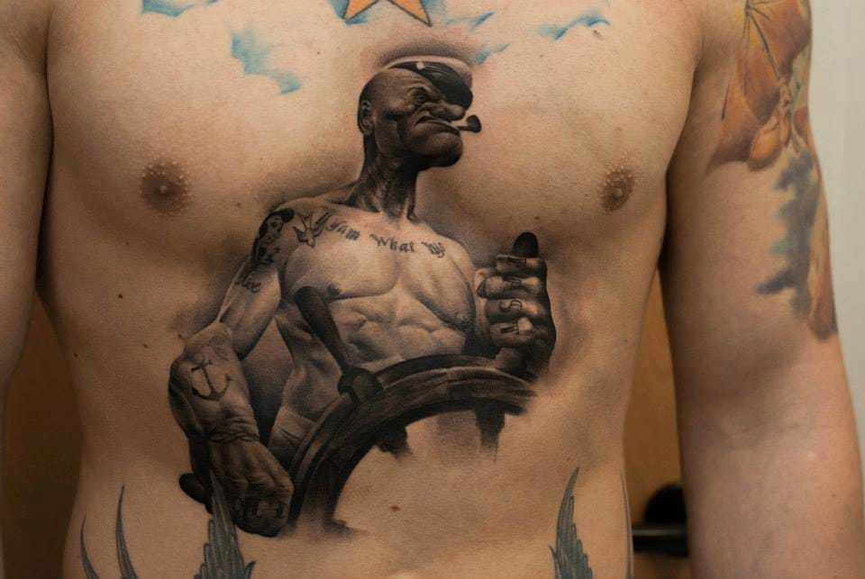 Badass tattoo by Denis Sivak...