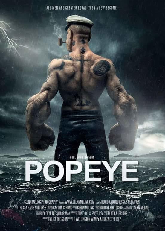 How much do you like this badass tattooed Popeye??? (fan art)