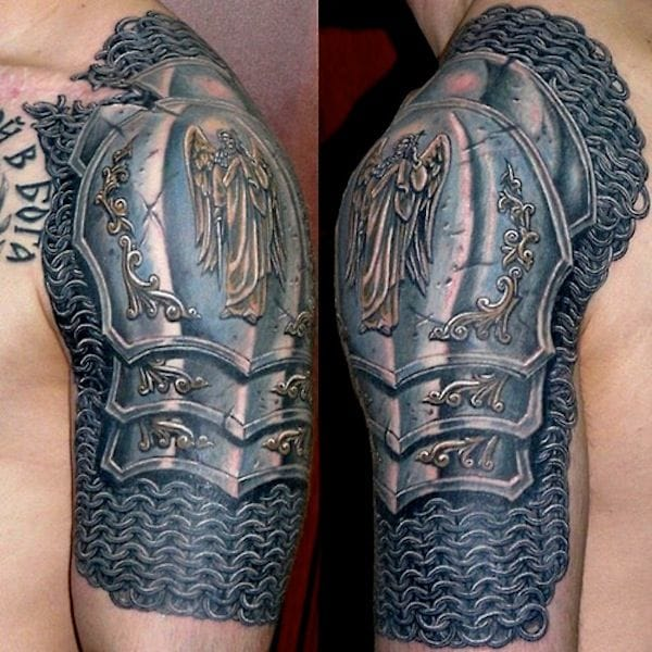 Badass shoulder pad with gorgeous details!
