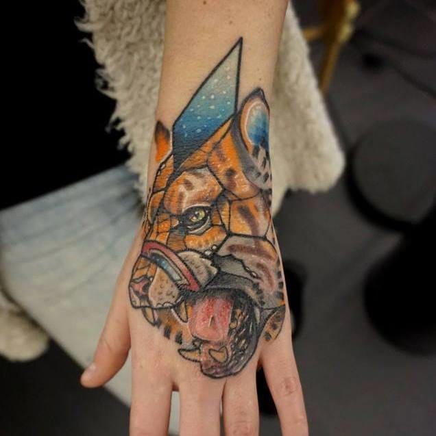 Badass hand tattoo by Jubsss