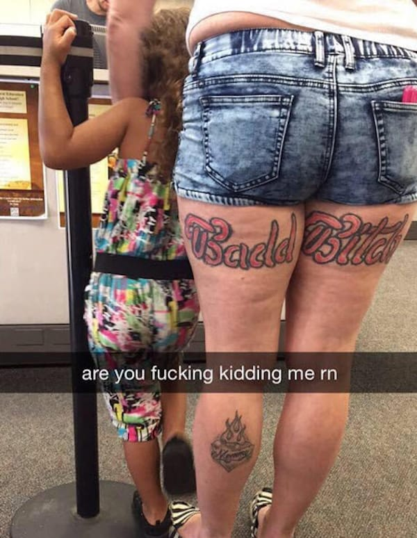 """This is the definition of a """"Badd Bitch"""" tattoo"""