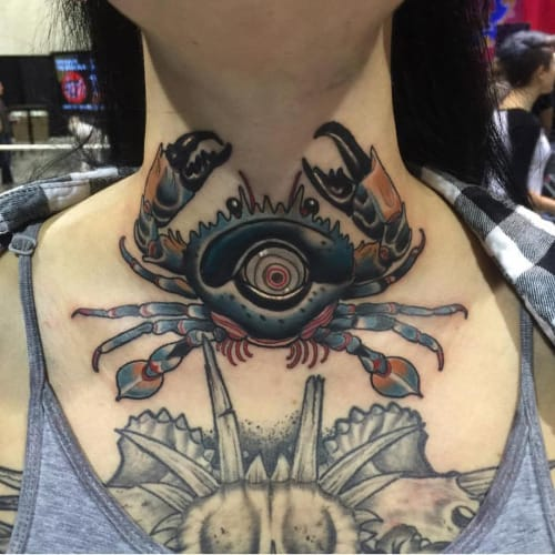 Crab Tattoo by Matt Adamson
