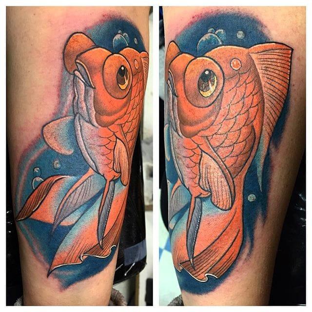 10 Adorable Goldfish Tattoos