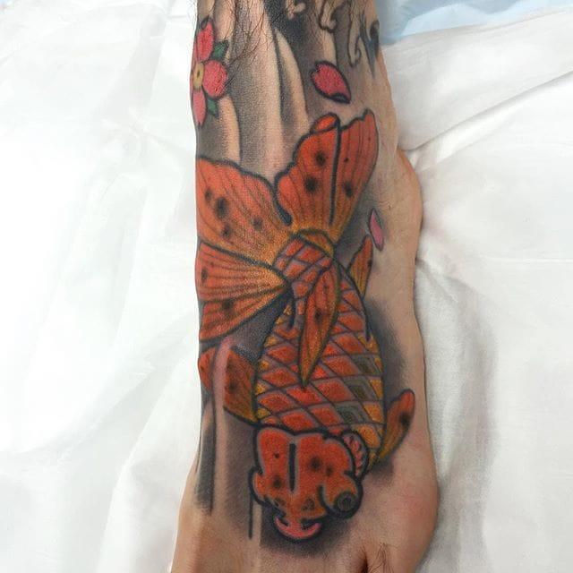 Goldfish Tattoo by Brett Hayes