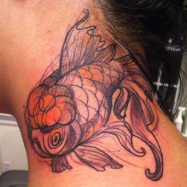 Goldfish Tattoo by Nomi Chi