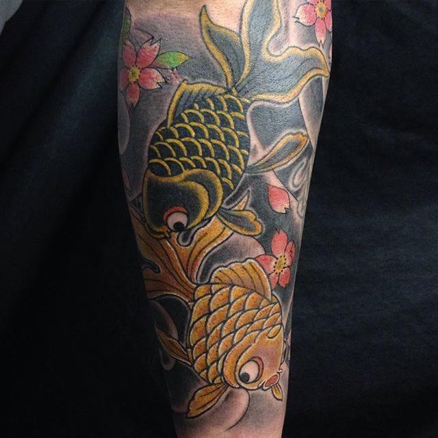 Goldfish Tattoo by Yushi Horikichi