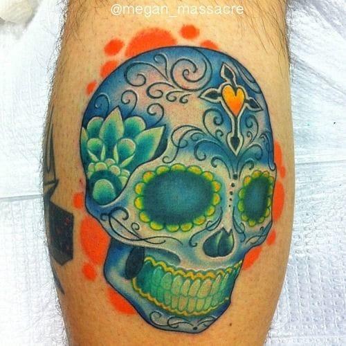 By Megan Massacre, Wooster Street Social Club #sugarskull #skull #meganmassacare