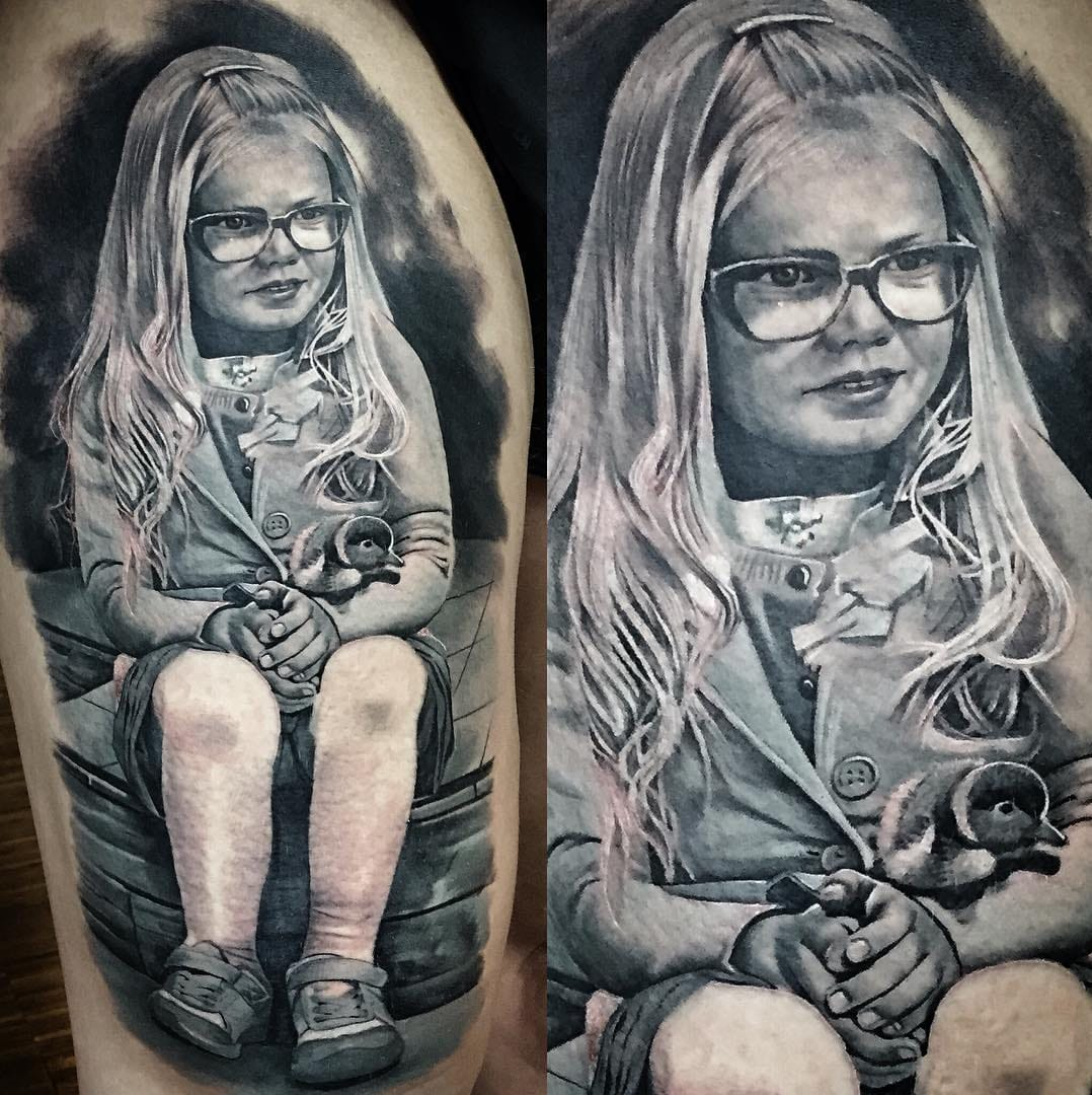18 Amazing Portrait Tattoos