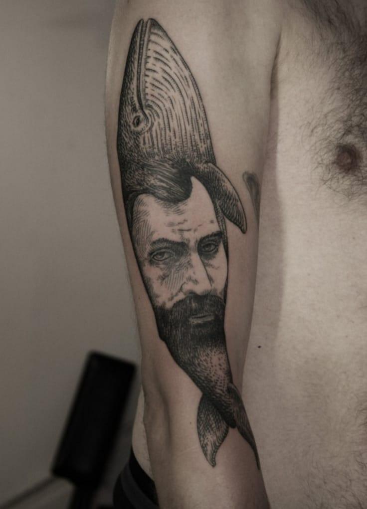 """""""The Captain"""", tattoo artist Otto Dambra, source: ottodambra.com"""