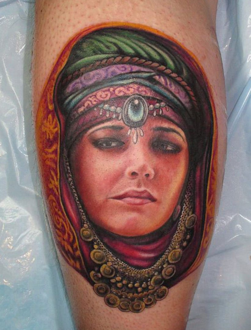 Portrait tattoo by artist Chris Nieve, Source: tattoocult.org