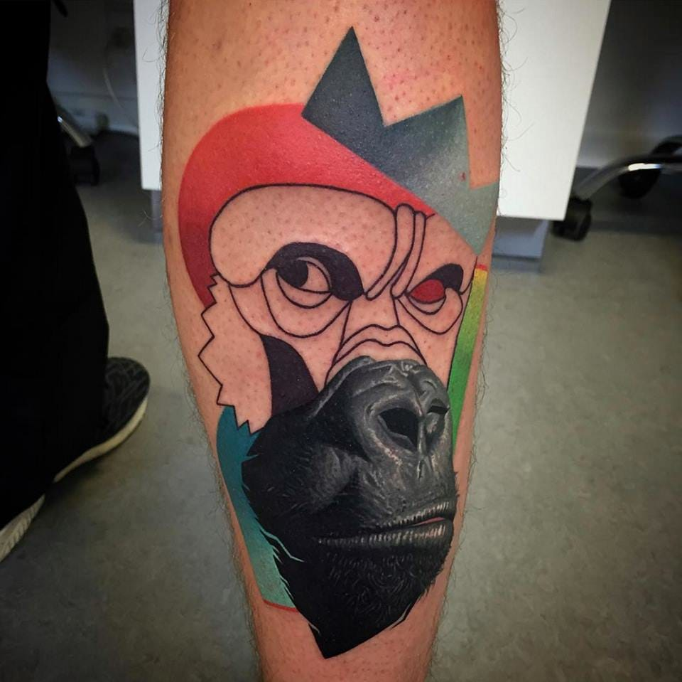 King of the gorillas /Photo from Instagram @dzikson_tattoos