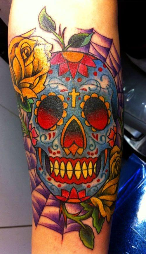 David Attonito, Good Clean Fun Tattoos #sugarskull #skull #DavidAttonito