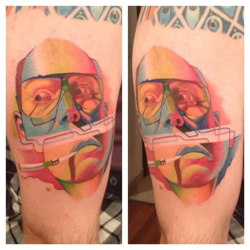 Awesome take on a Fear and Loathing tattoo /Photo from Instagram @dzikson_tattoos
