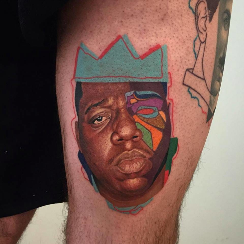 Biggie tattoo /Photo from Instagram @dzikson_tattoos