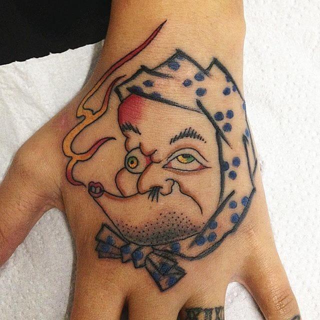 Hyottoko Tattoo by Francisco Almeida