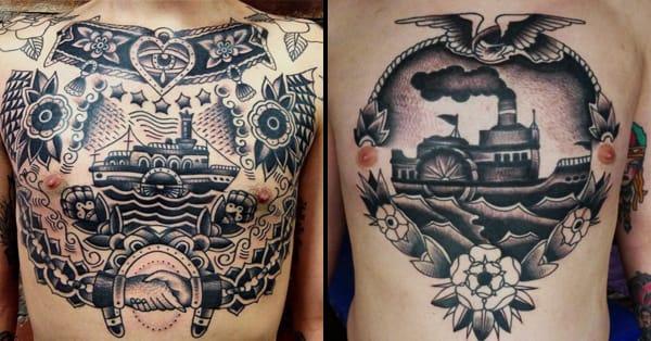 8 enjoyable paddle steamer tattoos tattoodo. Black Bedroom Furniture Sets. Home Design Ideas