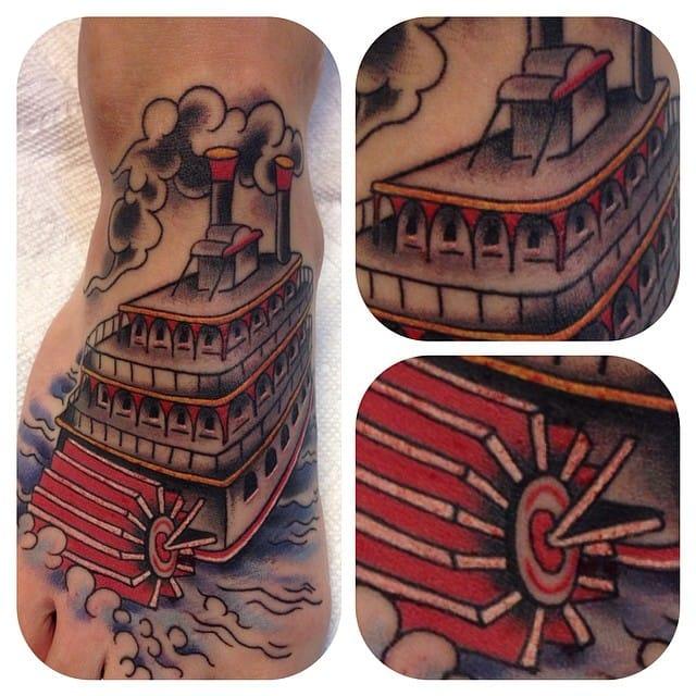 8 Enjoyable Paddle Steamer Tattoos