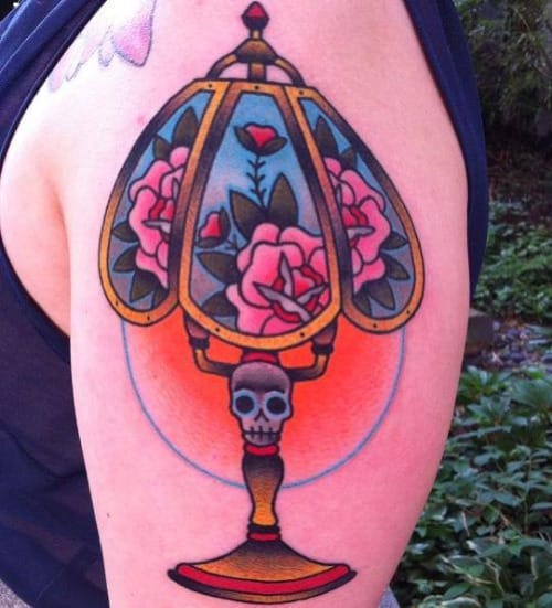 Lamp Tattoo by Ashley Love