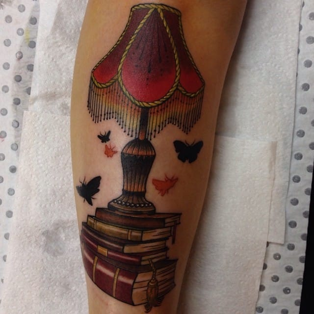 Lamp Tattoo by Drew Shallis