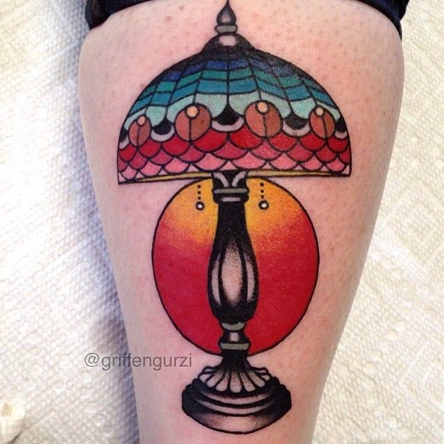 Lamp Tattoo by Griffen Gurzi